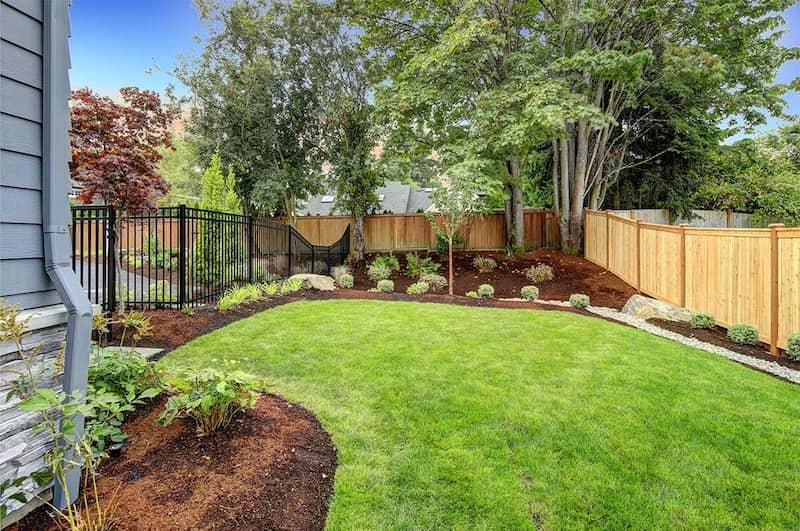 backyard residence landscaping