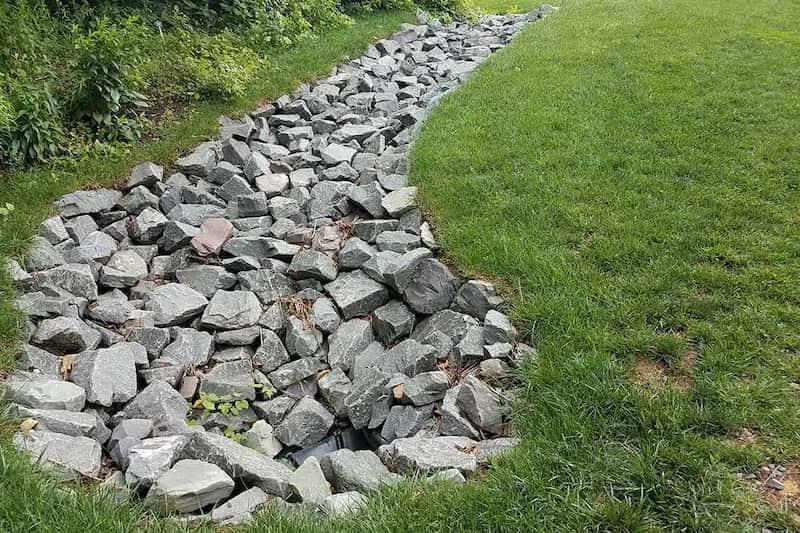 stone yard drainage