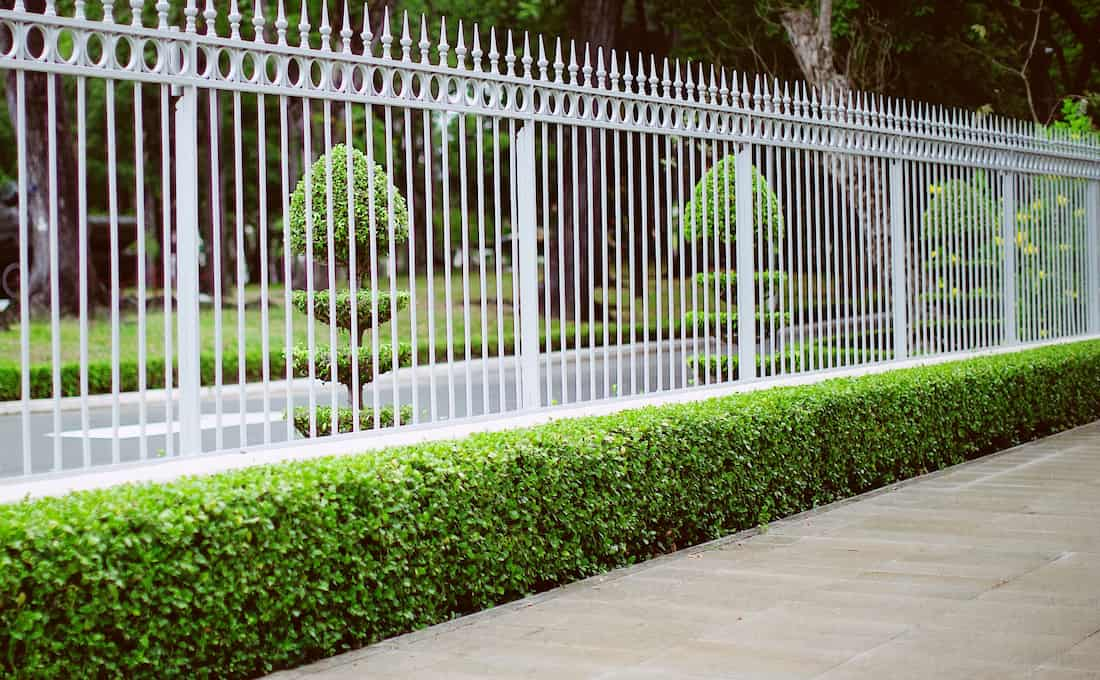 what is hardscaping with fencing and pathway